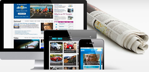Fairfax Media's newspaper, desktop, iPad and iPhone ads
